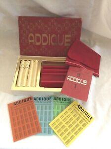 VINTAGE ADDIQUE BOARD GAME - COMPLETE SET