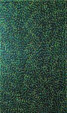 GLORIA PETYARRE, Highly Collectable Aboriginal Art. Green, yellow and Aqua.