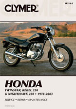 CLYMER REPAIR MANUAL Fits: Honda CMX250C Rebel,CB250 Nighthawk,CM250C Custom,CM2