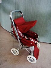 Vintage Sturdy Metal Folding Baby Doll Carriage Buggy Stroller with Sunshade