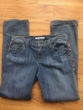 Tommy Hilfiger Womens Sz 8 X-tra Low Rise Beaded Straight Jeans Pants 32 x 32
