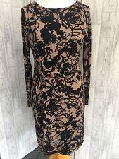 Gerard By Vogue Beige & Black Stretch Dress 14