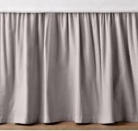 650-TC Cotton SPLIT Corner Ruffle Bed Skirt Solid Silver Grey All Size/Drops NEW