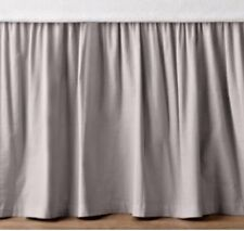 Solid Silver Split Corner Ruffle Bed Skirt 650 Tc Cotton All Bed Size Drop