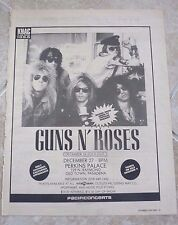 Guns N Roses Original 12-27-87 Perkins Palace Rare Concert Poster Ad Framed
