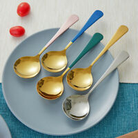 Stainless Steel Spoon Porridge Soup Home Dessert Kitchen Cooking Utensil Spoon
