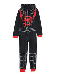 Licensed Boy's One-Piece Full-Zip Hooded Blanket Pajama Sleepwear Sleeper: 4-12