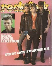 REVUE : Rock & Folk # 196 david bowie stray cats eric clapton marc bolan