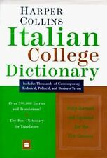 Harper Collins Italian College Dictionary-ExLibrary
