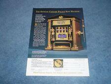1998 Franklin Mint Official Caesars Palace Slot Machine Vintage Ad