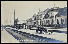 Pocztowka Wołkowysk Dworzec Kolejowy Railway Station Volkovysk postcard (1345)