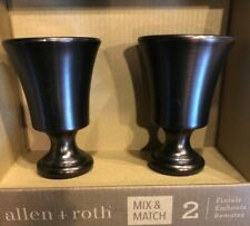 allen + roth Rubbed Bronze Aluminum Curtain Rod Finials