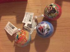 Hallmark Disney Cars Movie and Pirate Boy Jake Round Ornaments (Lot of 3) NEW