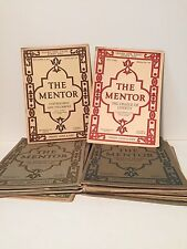 1916-1918 Lot Of 17 Vintage Mentor Magazines With Inserts