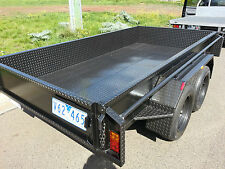 10x5 Tandem Trailer with Chk Plate Higher Sides
