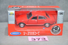 Welly 1:34 1975 Peugeot 504 Diecast Model Car In Red Opening Doors In Box New