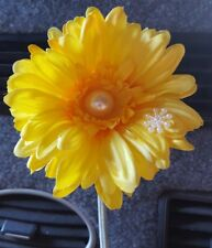 Yellow VW flower  Gerbera pearl & snowflake VW Beetle SEE OUR WHOLE RANGE