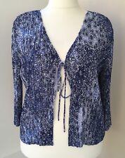 RRP £69 CC Petite Blue Floral Pleat Effect Summer Cardigan Size XL 24 - 26 #JT3