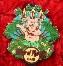 Hard Rock Cafe Pin MAUI Hula Dancer PIG Luau Roast beach palm tree hawaii lapel