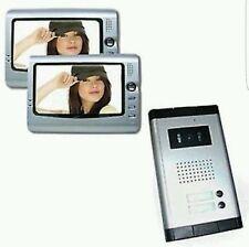 KIT VIDEOCITOFONO BIFAMILIARE TELECAMERA 2 MONITOR 7.