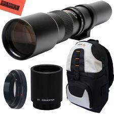 500mm 1000mm f/8 Telephoto Lens + BackPack for Nikon D3000, D3100, D3200, D3300