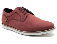 Red Tape Holker Mens Oxblood Suede Casual Lace-Up Shoes Rrp £50 Free Uk P&P!