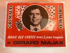 GRIMAUD MAGIE DES CARTES GERARD MAJAX - DOUBLE DECK - RARE CARDS