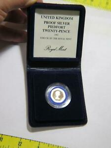 UNITED KINGDOM 1982 20 PENCE PIEDFORT PROOF SILVER WORLD COIN W/CASE & COA 🌈⭐🌈