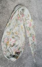 Atmosphere blue duck floral thread summer scarf pashmina pink floral primark