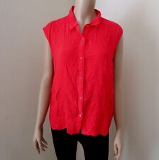 NWT Hollister Womens Tank Top Floral Embroidered Shirt Size Large Blouse