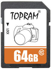 TOPRAM 64GB SD class10 C10 64G SDXC 2.0/3.0 secure digital memory card