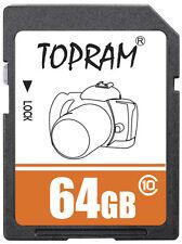 TOPRAM 64GB SD class10 C10 64G SDXC 2.0/3.0 secure digital memory card