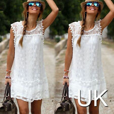 Lace Casual Petite Sleeveless Dresses for Women