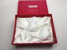 Brand New In Box! Pier 1 White Ceramic Birds Salt & Pepper Shakers