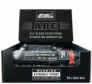 Applied Nutrition ABE Pre Workout Gel All Black Everything 20 x 60ml - Free P&P