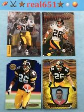 1995 + ROD WOODSON Insert-SP Lot x 4 | Invincible | Topps Nemeses | Steelers HOF