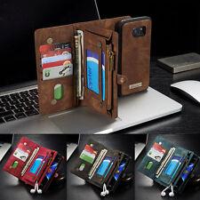 Leder Multifunktion Wallet Case Handy Tasche Schutz Hülle Cover Bumper Etui DECC