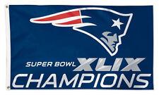 New England Patriots SUPER BOWL XLIX CHAMPIONSHIP FLAG - Huge 3'x5' Edition