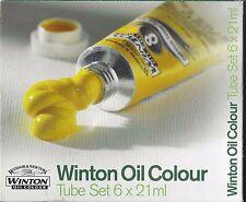 NEW Oil Paint WINSOR & NEWTON WINTON 6 Colors x 21 ml Beginner Amateur Quality