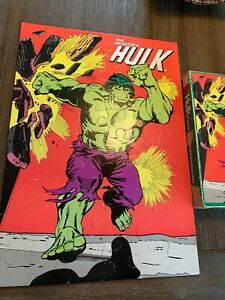 1977 INCREDIBLE HULK Giant Size FLOOR Jigsaw PUZZLE 48 Pieces 100% COMPLETE
