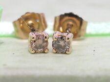 Solitär Brillant Ohrstecker 585 Gelbgold 14Kt Gold 2 Brillanten total 0,15ct