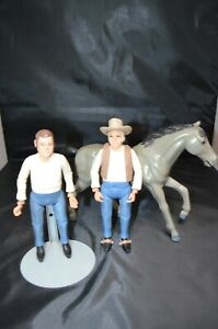 """Vintage 1966 American character Bonanza """"Hoss"""" Action Figures And Horse"""