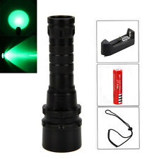 10W 3* XPE Green Light LED 18650 Diving Scuba Flashlight Torch Underwater 120M