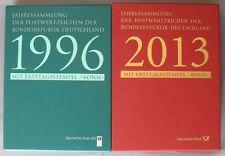 s459) BRD Jahressammlung ESST Bonn 1996 + 1998 - 2013 kpl Postpreis ca 1350 Euro