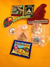 Canadian Patches, 1 pin, 1 staff badge + 3 bonus pins Total 11 NEW items!!
