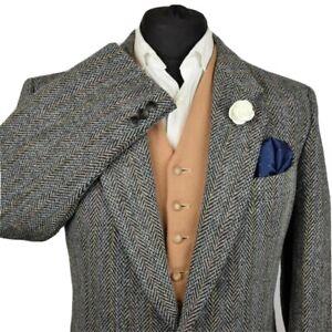 Harris Tweed Tailored Country Herringbone Blazer Jacket 44S #984 SUPERB JACKET