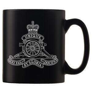 Royal Regiment of Artillery - Personalised Black Satin Mug