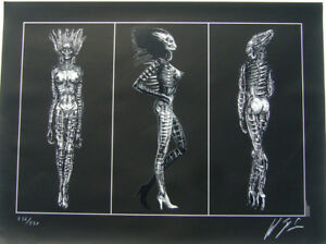 SIL from Species original lithograph by H.R. Giger  signed edn: 290 (new)