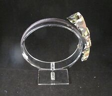 Camo Camouflage double side bow Headband Hair Band Brown Olive no grip teeth D