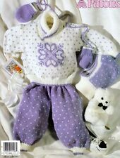 Knitting PATTERNS  Babies PLAYSUITS DRESSES HATS Aran Nordic Cable 0-12 months